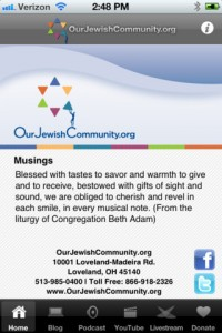musings on Our Jewish Community app