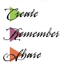 create remember share logo
