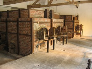 Oven in Dachau concentration camp