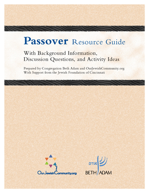 Cover of Passover Resource Guide
