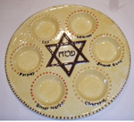 seder plate for passover with star of david